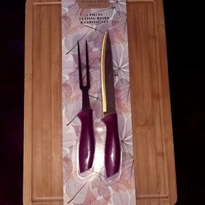 NEW 3 Piece Cutting Board and Knife Set